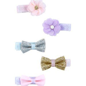 Carter's   Baby Girl 6 Pack Hair Bow Clips NWT
